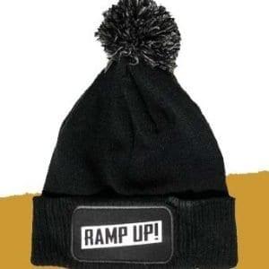 RAMP UP! RECORDS Bobble Hat - Black